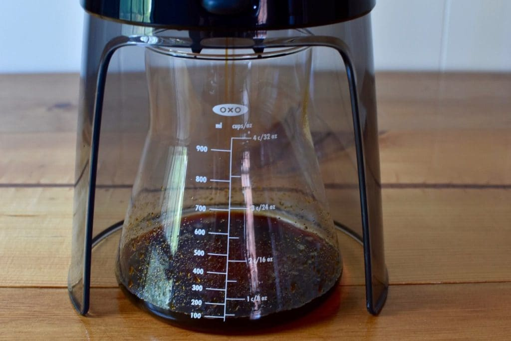 coffee pouring into carafe