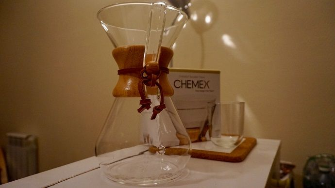 The Chemex Classic, with wooden collar