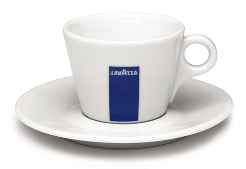 a cappuccino cup from lavazza
