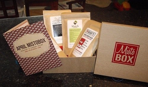 MistoBox coffee subscription review - products and manual
