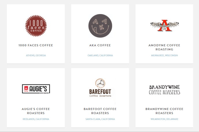 A selection of roasters who work with Mistobox