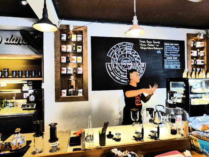 seniman barista teaching