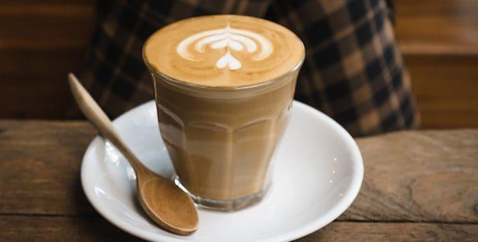 A latte coffee