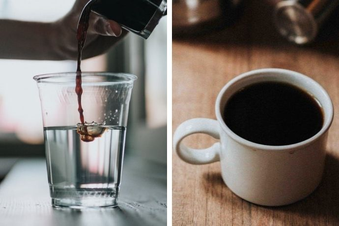 an americano vs coffee comparison photo