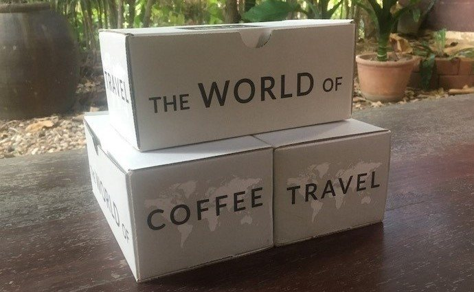 The three boxes we got from atlas coffee club