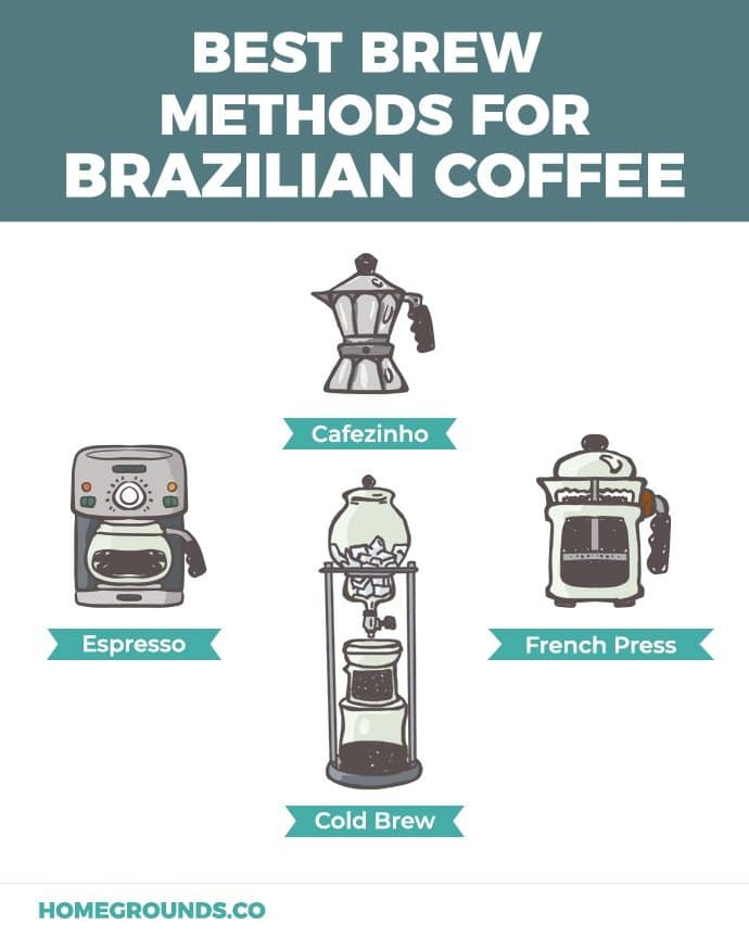 Best Brew methods for brazilian coffee beans
