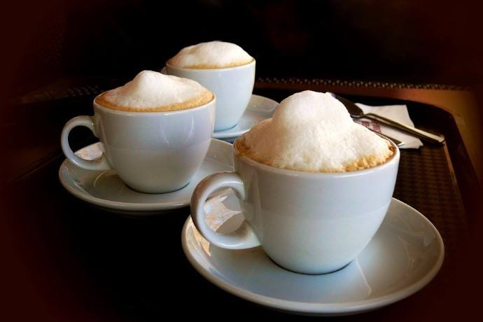 3 cups of cappuccino