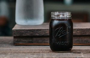 cold brew in mason jar