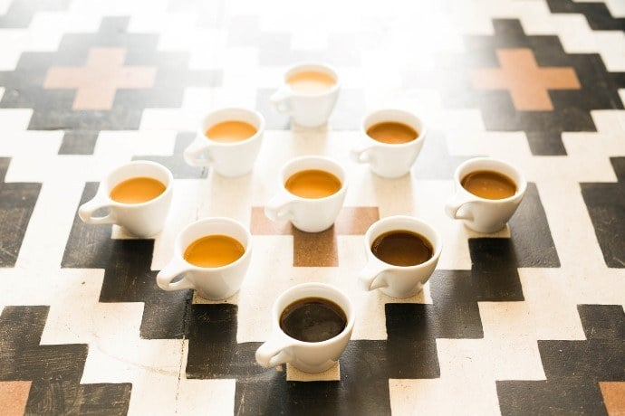 Cups of Coffee on the Floor