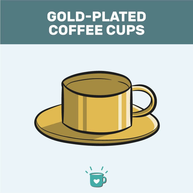 gold-plated cup