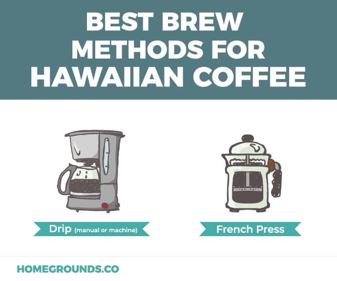 Ideal brewing methods for Hawaiian coffee beans