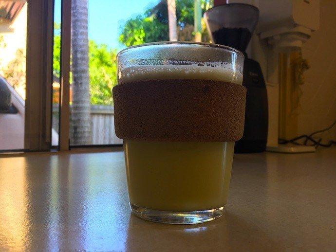 a glass of Japanese Bulletproof Matcha Green Tea