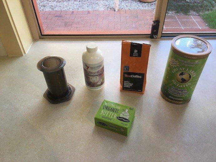 Bulletproof with collagen ingredients