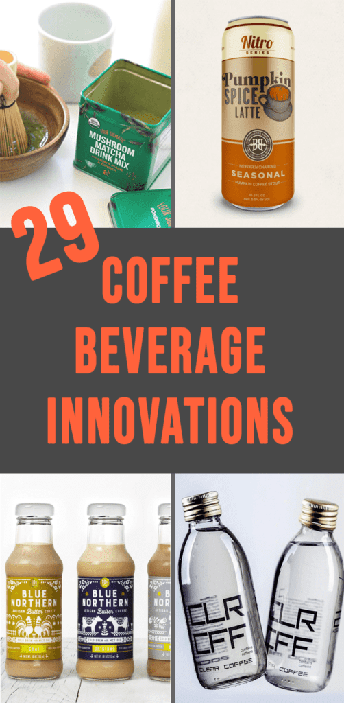 a collage of some coffee beverage innovations