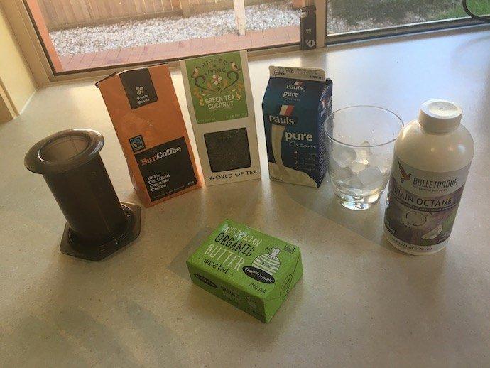 Creamy Bulletproof Green Tea Ingredients