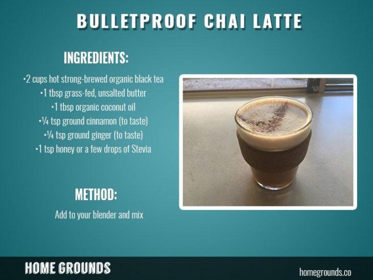 how to make bulletproof chai latte