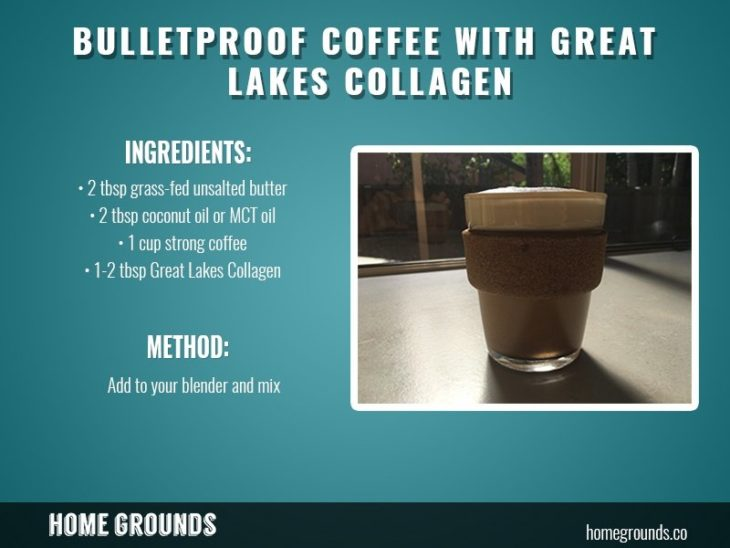 Bulletproof coffee with Great Lakes Collagen