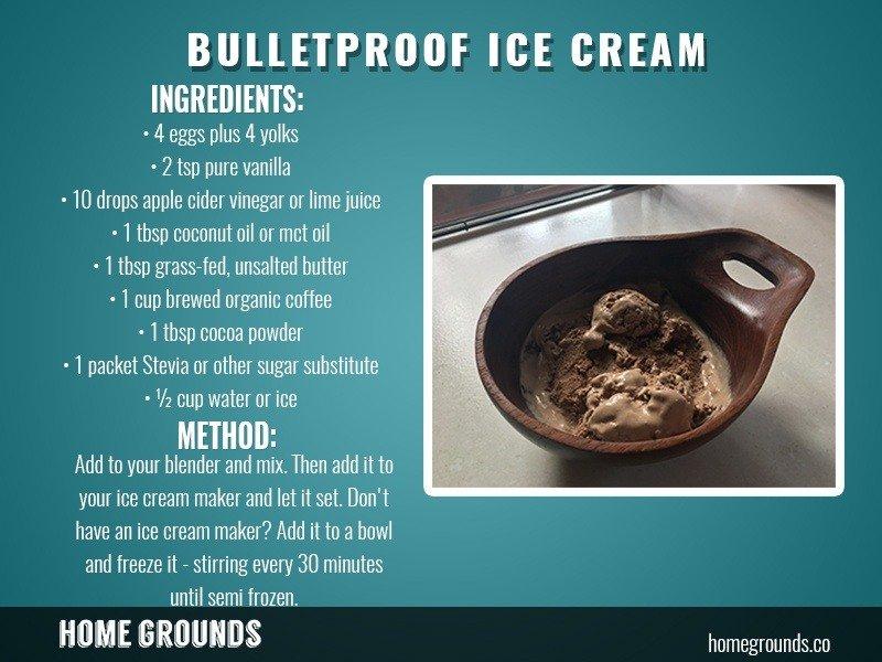 Bulletproof ICE CREAM instructions