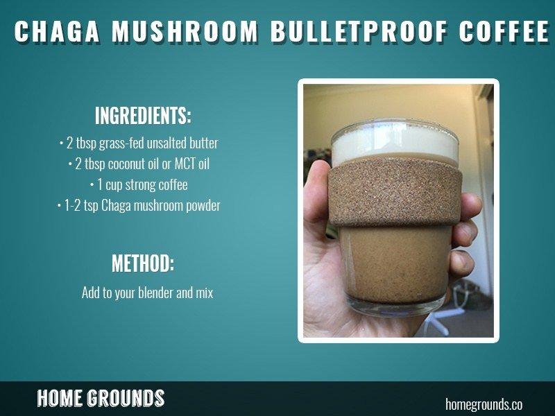 Bulletproof coffee with Chaga Mushroom