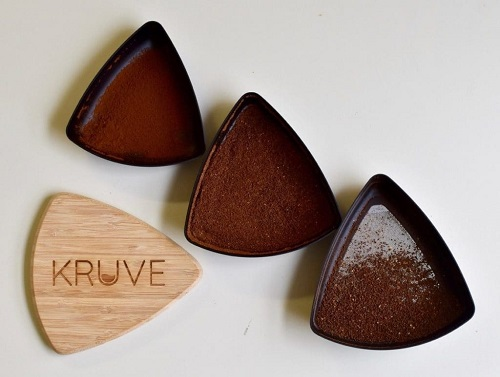 kruve sieves and sifted coffee grounds