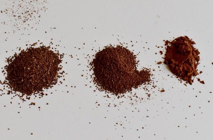 3 kinds of ground coffee