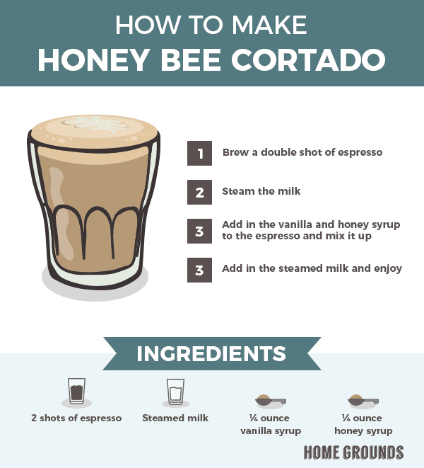How to Make Honey Bee Cortado
