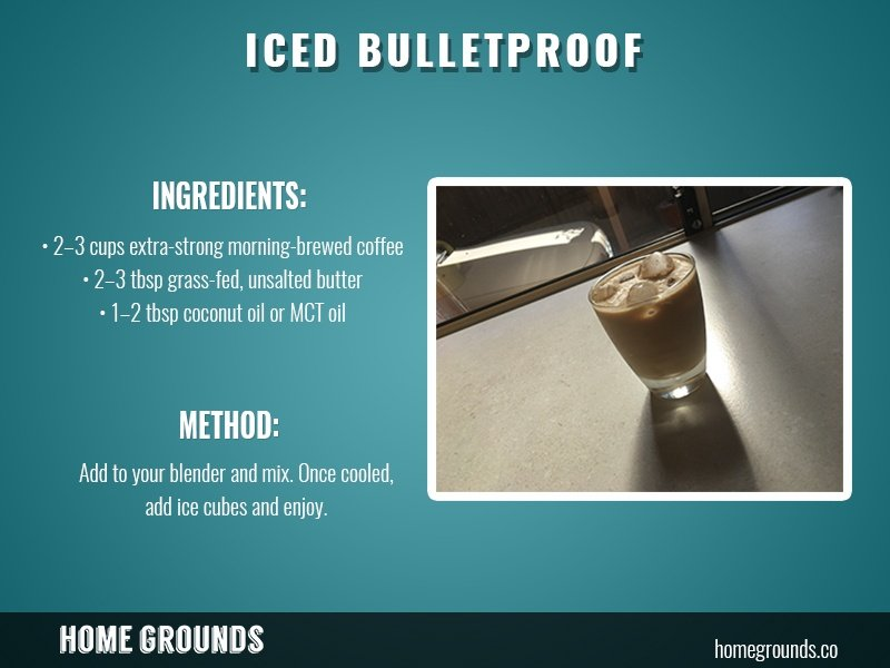 instructions for iced bullet proof coffee