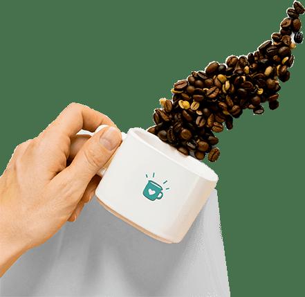 Hand holding a Coffee Mug