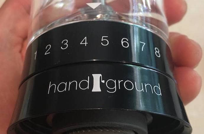 a close up product photo for this handground manual coffee grinder review