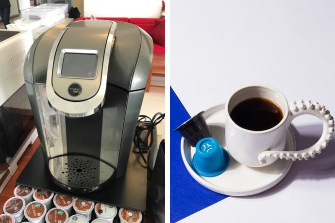 one of the best keurig coffee machines we considered for this best list and some coffee capsules
