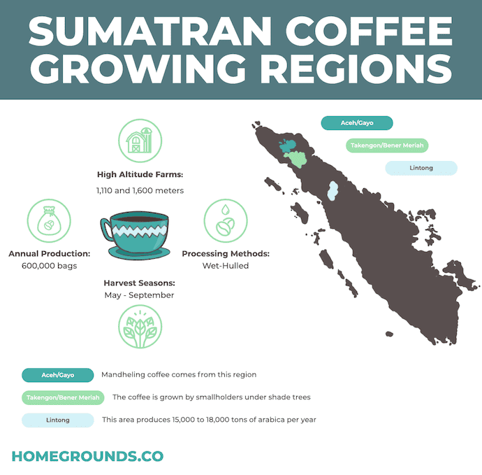 Sumatran Coffee Growing Regions