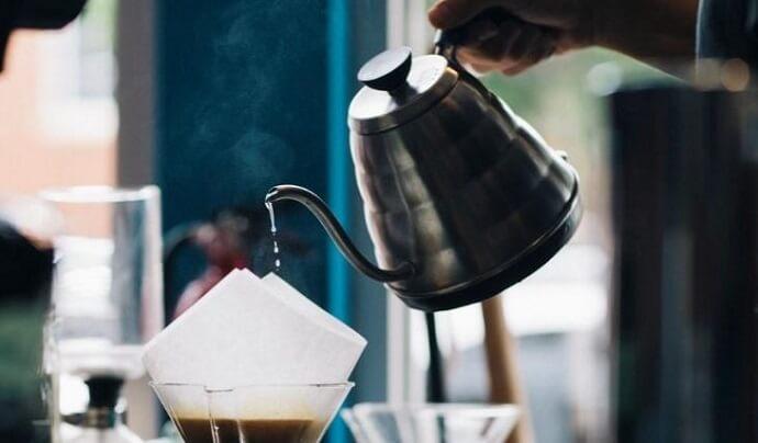 a gooseneck kettle similar to the Coffee Gator Gooseneck Kettle