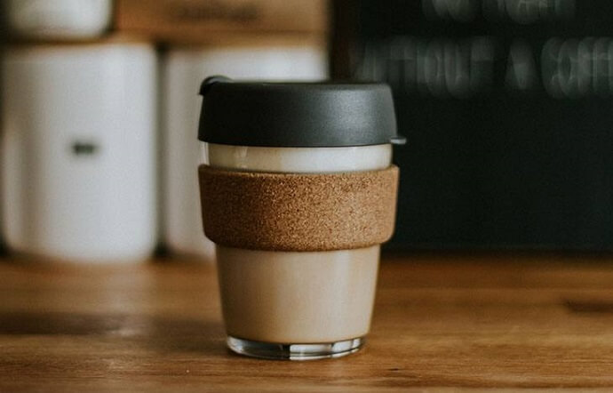 a keepcup filled with coffee