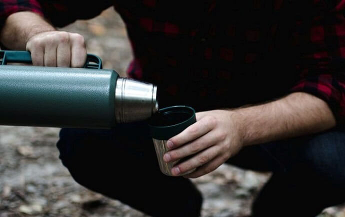 using a stanley thermos outdoors - a review