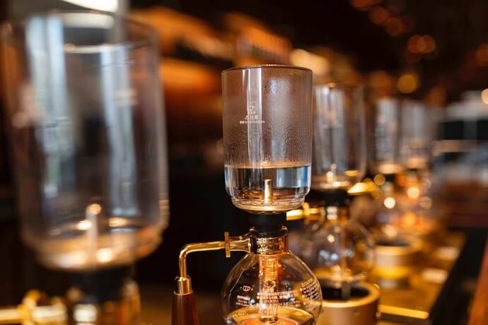 some coffee siphons like the kitchenaid siphon coffee brewer - the upper chamber