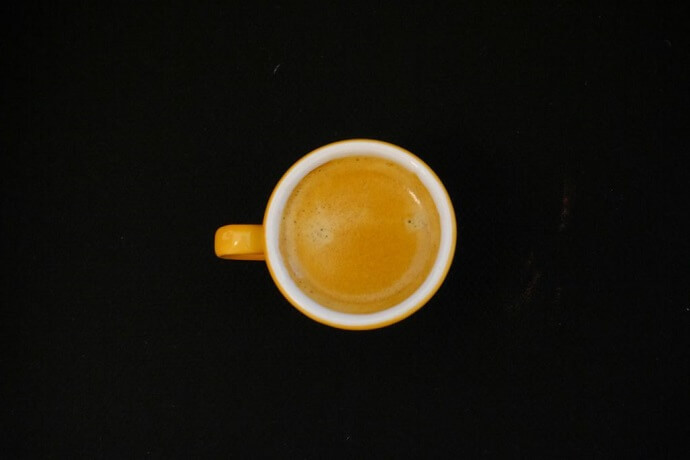 Yellow Mug with Coffee