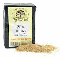 A packet of White coffee by poverty bay