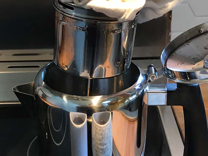 how to remove used grounds from coffee percolator