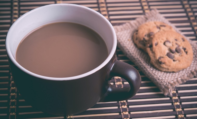 best flavored coffee and some cookies