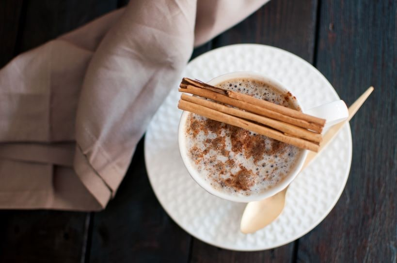 Cinnamon Stick on Coffee Cup