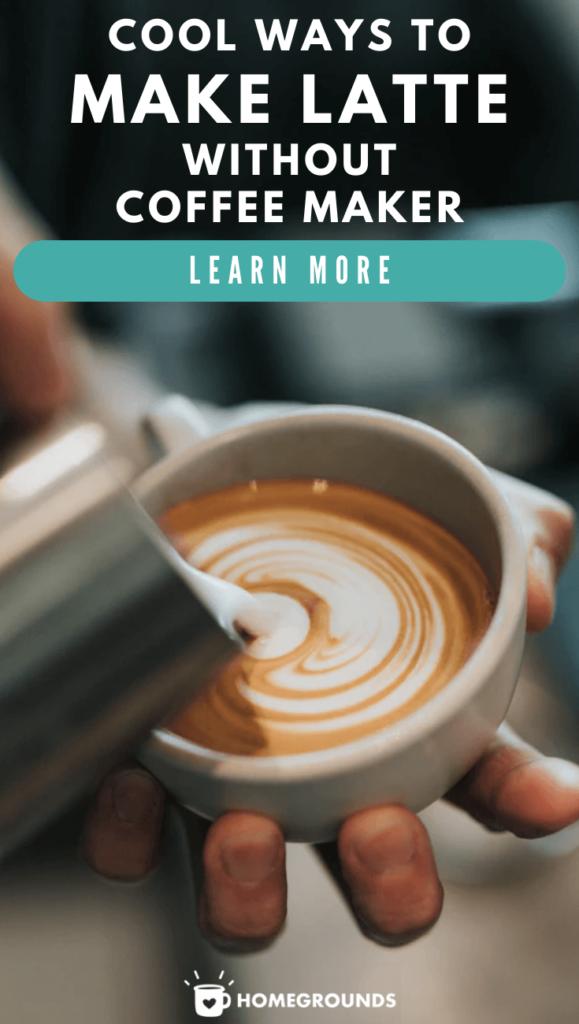Making a latte without a machine Pinterest
