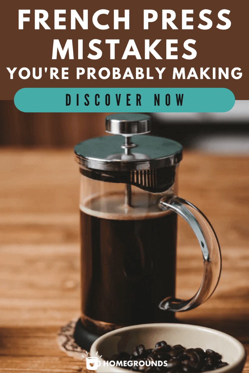 8 French Press Mistakes Pinterest Image