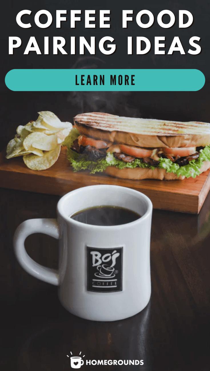 coffee mug and sandwich