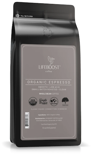 Lifeboost Coffee's Espresso Beans
