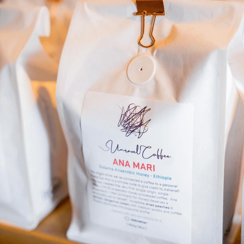 unravel coffee signature line