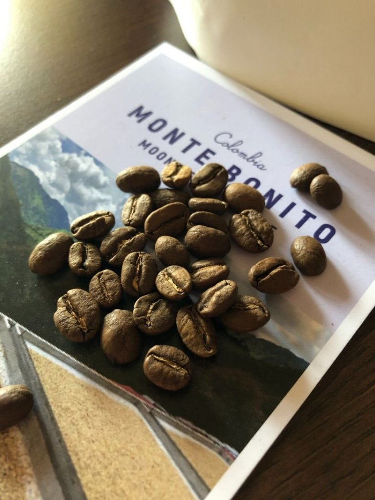 blue coffee box speciality coffee beans selection