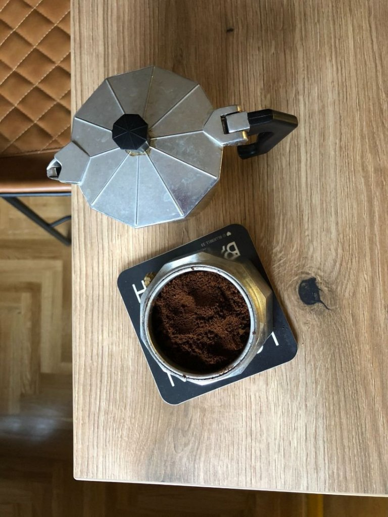 gourmet coffee made in a moka pot