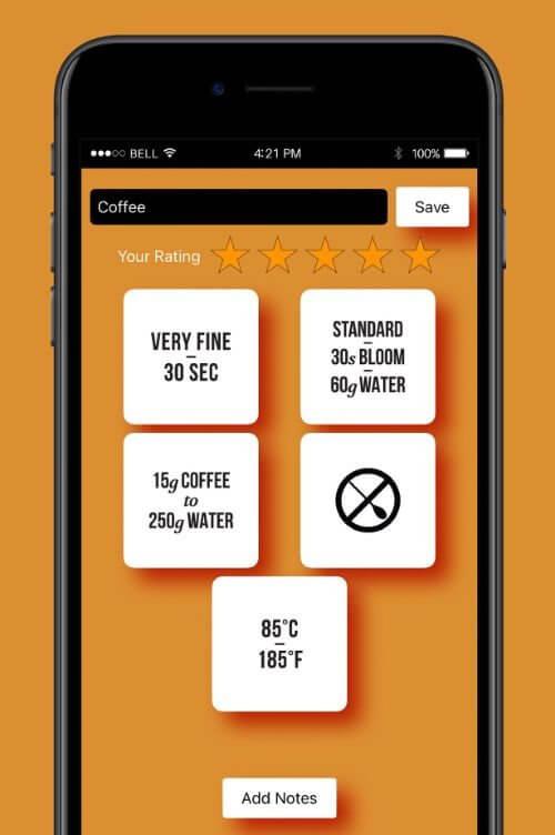 CoffeeDice app