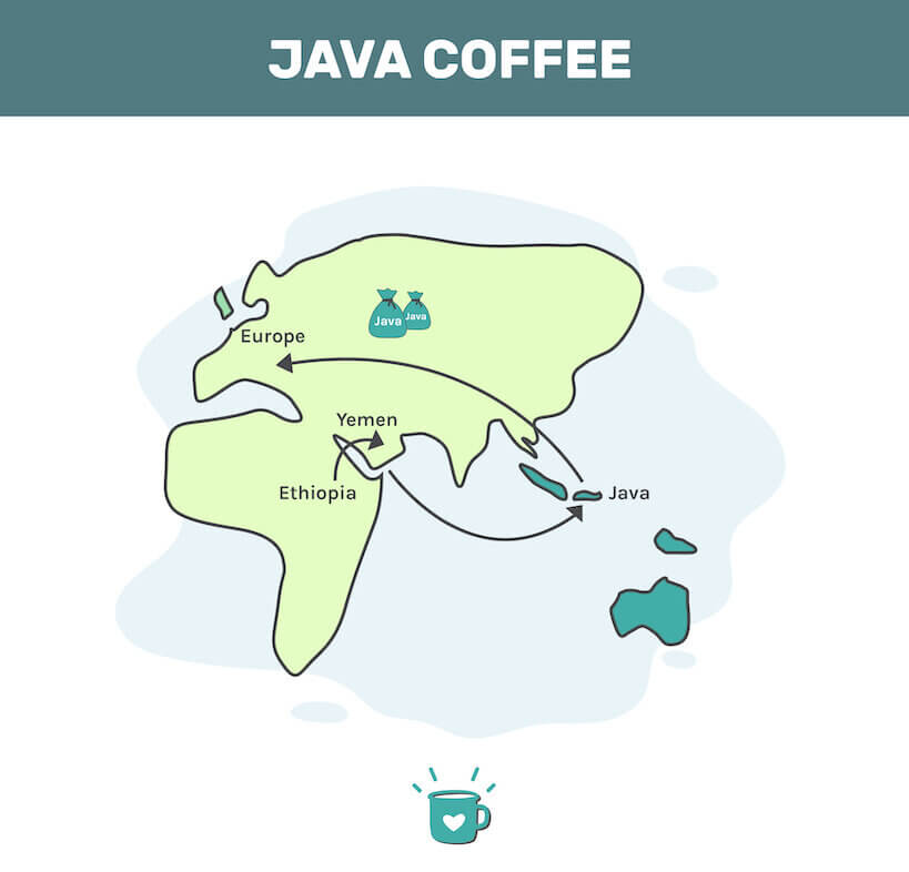Why is coffee called java - Check out this map