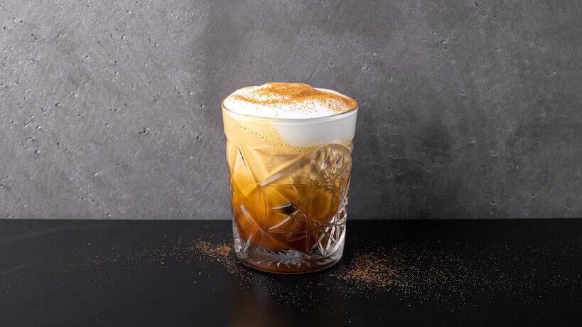 Freddo cappuccino on a table